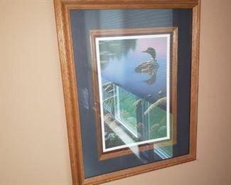 Framed Kim Norlien loon print