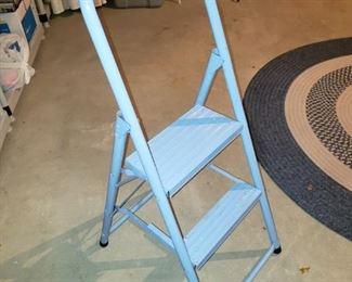 Cute baby blue metal step ladder