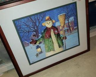 Framed Christmas print