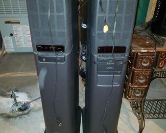 Sony floor speakers/CD changer
