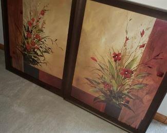 Floral framed prints