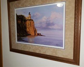 Framed print of Split Rock Lighthouse