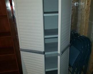 Plastic storage closet