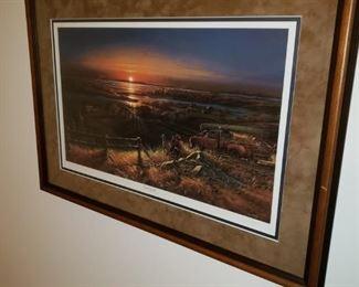 "Terry Redlin ""Best Friends"" framed print"
