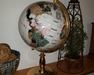 Gemstone globe, more home decor