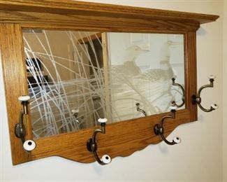 Foyer mirror/coat rack