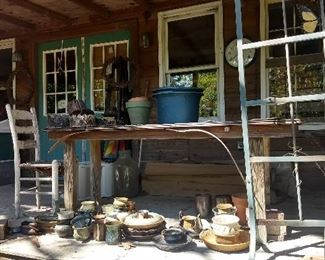 Lots of Studio Pottery inside and out