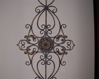 One of many iron wall sconces