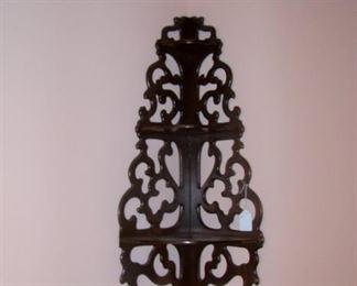 Wall shelf in mahogany