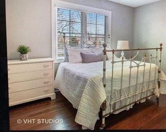 Dresser and antique bedframe