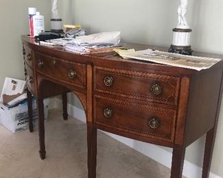 Buffet - Gorgeous Antique and pair of Blanc de Chine lamps