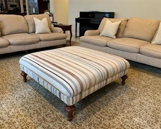 Custom Ottoman and Rug -