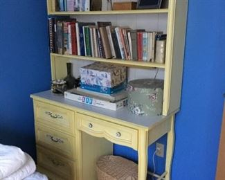 Children's furniture 4-drawer desk with hutch, yellow, part of children's bedroom set