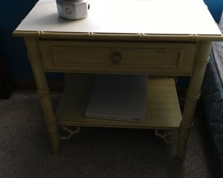 bedroom furniture side table, yellow bamboo style, part of children's bedroom set