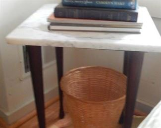 Another accent table with marble top.