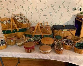 Longaberger market basket, Gathering basket, Collectors Club Membership Basket, tree trimming baskets, hostess appreciation baskets and many more