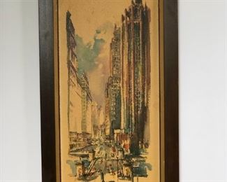 Chicago R. Snapper original signed watercolor