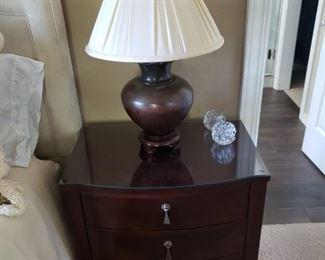 Bedside Cabinets. Lamp.