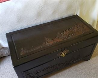 Asian Carved Trunk