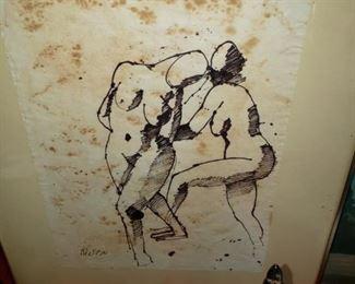 Original Ink Drawing signed
