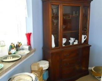 china cabinet, marble side table,