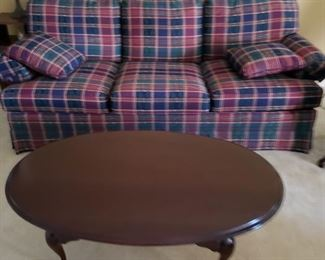 Queen Anne style coffee table and 2 end  tables