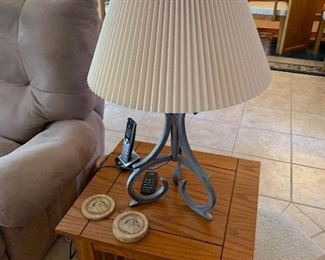 end table and lamp (phone will go with client)