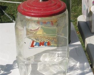 LANCE JAR WITH METAL LID.