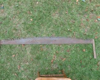 ANTIQUE CROSS CUT SAW.