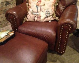 Matching chair & ottoman