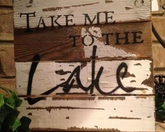 """""""Take me to the lake"""" for the Divide & Conquer moving sale."""