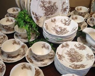 """""""Pastorale Toile de Jouy"""" dinnerware by Johnson Bros. - made in England"""