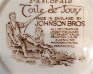 """Pastorale Toile de Jouy"" dinnerware by Johnson Bros."