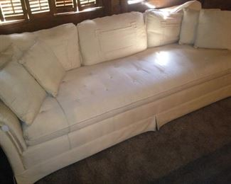 Long white sofa