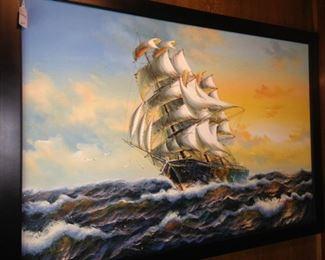 Large sailing ship art