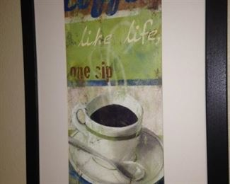 Framed coffee art