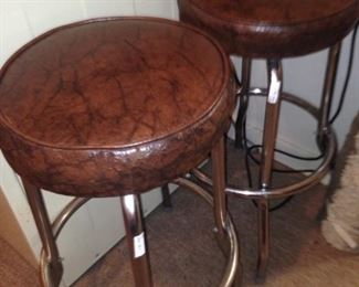 Two of three matching bar stools