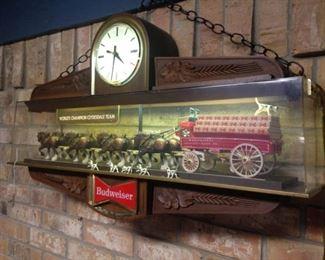 Budweiser lighted display clock