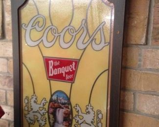 """""""The Banquet Beer"""" - Coors  advertising  sign"""