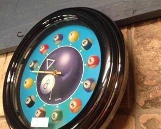 Pool ball clock