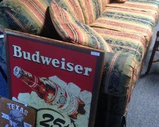 Longhorn sign; Budweiser sign