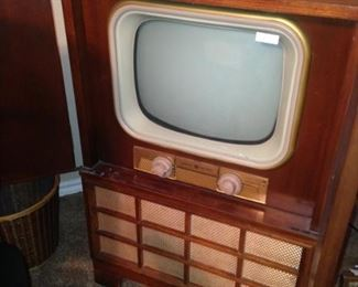 General Electric vintage TV console