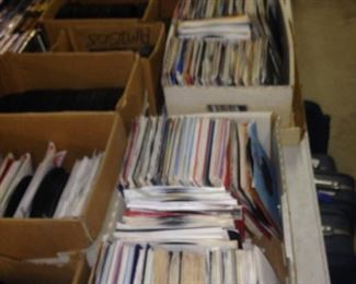 Some of the mannnnny records - 45's,  33's,  78's