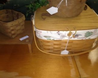Some of the several Longaberger baskets