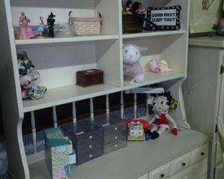 White chest & shelf unit