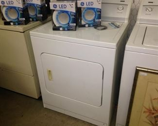 Several washer and dryers are available.