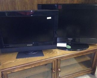 Two flat screen TV's