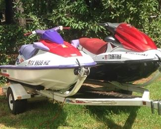 Jet skis and trailer