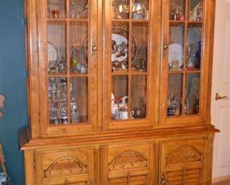 beautiful Oak china cabinet