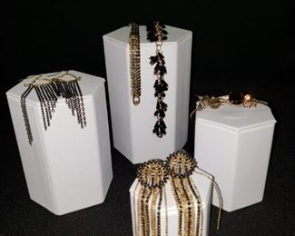 Black and Gold Colored Earrings and Bracelets